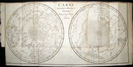 Buffon & Aldring 1778 Antique Map. Polar Regions showing Capt. Cook's Voyage